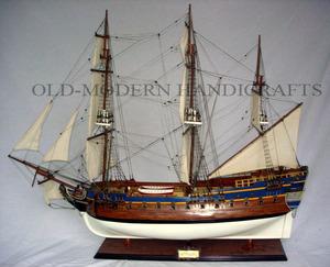 maquette de bateau, voilier, runabout Gotheborg peint - (coque 80 cm) Old Modern Handicrafts Quirao idées cadeaux