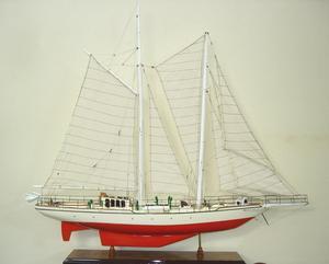 maquette de bateau, voilier, runabout Helena peint  - 80 cm Old Modern Handicrafts Quirao idées cadeaux