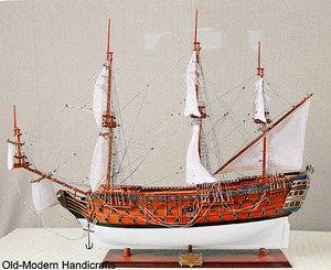 maquette de bateau, voilier, runabout HMS Royal George - (coque 80  cm) Old Modern Handicrafts Quirao idées cadeaux