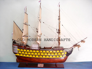 maquette de bateau, voilier, runabout HMS Victory peint - 120 cm Old Modern Handicrafts Quirao idées cadeaux