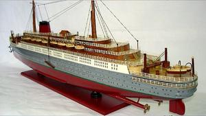 maquette de bateau, voilier, runabout Lenanic peint  - 80 cm Old Modern Handicrafts Quirao idées cadeaux