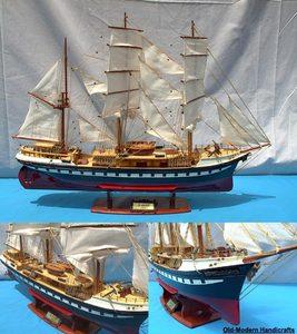 maquette de bateau, voilier, runabout Belem peint - 70 cm Old Modern Handicrafts Quirao idées cadeaux
