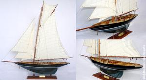 maquette de bateau, voilier, runabout William Fife peint - 60 cm Old Modern Handicrafts Quirao idées cadeaux