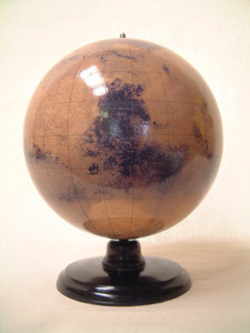 globe de mars globe 30 cm sur support bois. Black Bedroom Furniture Sets. Home Design Ideas