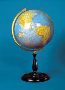 globe terrestre moderne bleu 30 cm. Black Bedroom Furniture Sets. Home Design Ideas