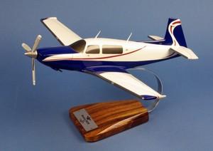 maquette d'avion Mooney M20R Ovation 2 - 34 cm Pilot's Station Quirao idées cadeaux