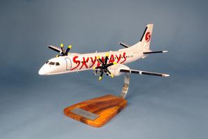 maquette d'avion Saab 2000 Skyways - 42 cm Pilot's Station Quirao idées cadeaux