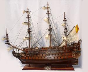 maquette de bateau, voilier, runabout San Felipe - (coque 80 cm) Old Modern Handicrafts Quirao idées cadeaux