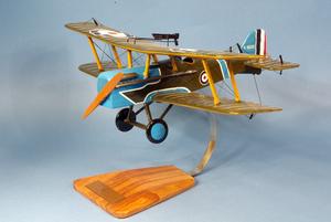 maquette d'avion Royal Aircraft Factory SE.5 - Lt.Col Bishop - 39 cm Pilot's Station Quirao idées cadeaux