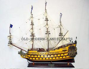 maquette de bateau, voilier, runabout Soleil Royal peint - (coque 60 cm) Old Modern Handicrafts Quirao idées cadeaux