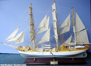 maquette de bateau, voilier, runabout Statsraad Lehmkuhl - (coque 80 cm) Old Modern Handicrafts Quirao idées cadeaux