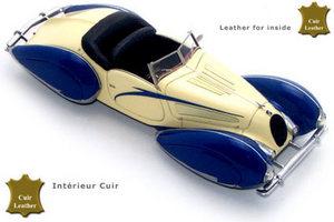 miniature de voiture Talbot Lago T150C Cabriolet Figoni Falaschi 1938 Bleu/Jaune Challange Quirao idées cadeaux