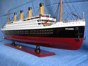 maquette de bateau, voilier, runabout Titanic peint - 100 cm Old Modern Handicrafts Quirao idées cadeaux