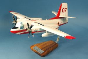 maquette d'avion Tracker S-2T Firecat Sécurité Civile T07 F-ZBEY  - 62 cm Pilot's Station Quirao idées cadeaux