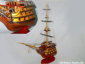 maquette de bateau, voilier, runabout HMS Victory partie avant - 80 cm Old Modern Handicrafts Quirao idées cadeaux