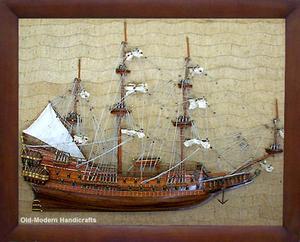 maquette de bateau, voilier, runabout Wasa demi-maquette - (coque 80 cm) Old Modern Handicrafts Quirao idées cadeaux