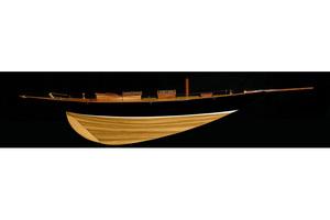 maquette de bateau, voilier, runabout Yum - 75 cm demi-coque Kiade Quirao idées cadeaux