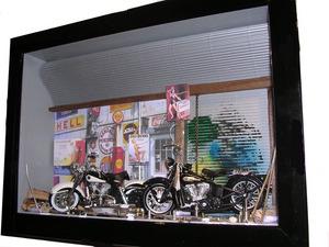 tableau 3d 2 motos GM Patrick Richard Quirao idées cadeaux