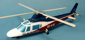 maquette d'helicoptère Agusta 109  E.G Heliservice   Pilot's Station Quirao idées cadeaux