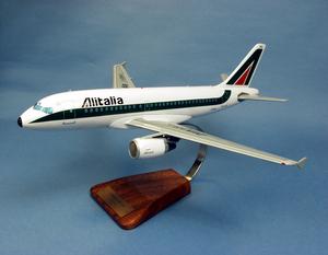 maquette d'avion Alitalia Airbus A.319 - 43 cm Pilot's Station Quirao idées cadeaux