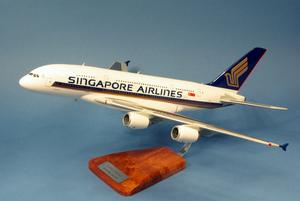 maquette d'avion Singapore Airlines Airbus A.380-800 - Airbus o/c - 55 cm Pilot's Station Quirao idées cadeaux