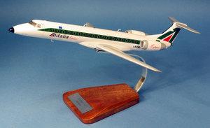 maquette d'avion Alitalia Embraer 145 I-EXMU - 1/72 41x28cm Pilot's Station Quirao idées cadeaux
