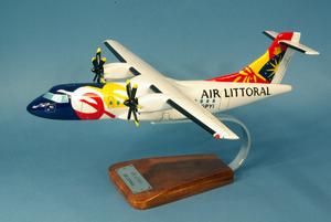 maquette d'avion ATR.42/500 - Air Littoral - 38 cm Pilot's Station Quirao idées cadeaux