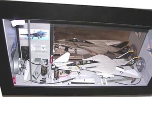 tableau 3d Avion de chasse MM Patrick Richard Quirao idées cadeaux