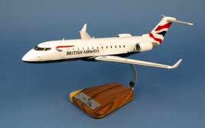 maquette d'avion Canadair CRJ-200 British Airways G-MSKT - 46 cm Pilot's Station Quirao idées cadeaux