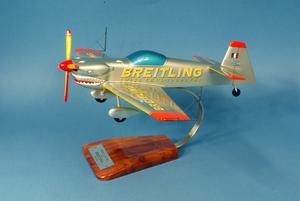 maquette d'avion Cap 232 Breitling Shark Silver - 37 cm Pilot's Station Quirao idées cadeaux