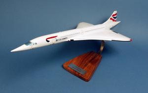 maquette d'avion Concorde British Airways UK- G-BOAA - 62 cm Pilot's Station Quirao idées cadeaux