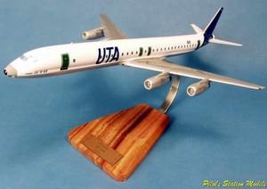 maquette d'avion Douglas DC8-62 UTA F-BOLF - 47 cm Pilot's Station Quirao idées cadeaux