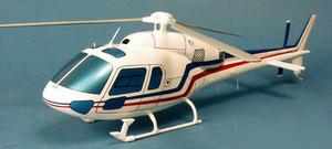 maquette d'helicoptère Ecureuil II AS355 - Civil - 39 cm Pilot's Station Quirao idées cadeaux