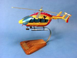 maquette d'helicoptère EC-145 Sécurité Civile - 38 cm Pilot's Station Quirao idées cadeaux