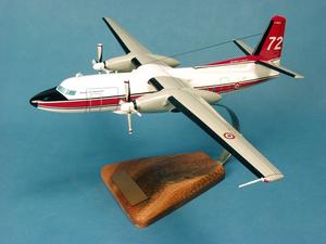 maquette d'avion Fokker 27 Sécurité Civile 72 - 42 cm Pilot's Station Quirao idées cadeaux