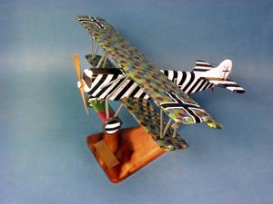 maquette d'avion Fokker D.VII - Lt Ulrich Neckel  - 45 cm Pilot's Station Quirao idées cadeaux