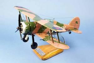 maquette d'avion Gloster Gladiator MK.I - RAF 80sq - 41 cm Pilot's Station Quirao idées cadeaux