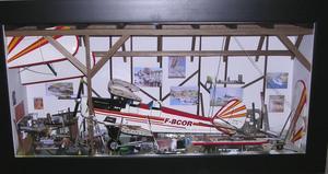 tableau 3d Hangar avion ou hélicoptère TGM Patrick Richard Quirao idées cadeaux