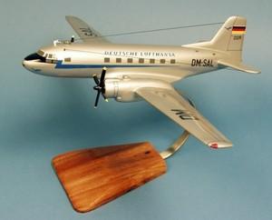 maquette d'avion Ilyushin IL-14-P Crate Deutsche Lufthansa - 44 cm Pilot's Station Quirao idées cadeaux