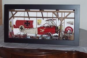 tableau 3d Le garage avion Patrick Richard Quirao idées cadeaux