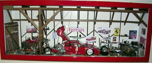 tableau 3d Le garage voiture Patrick Richard Quirao idées cadeaux