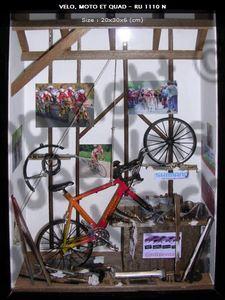 tableau 3d Le vélo (garage) Patrick Richard Quirao idées cadeaux