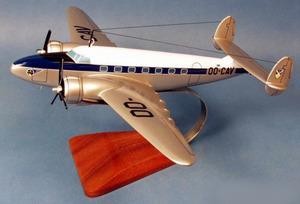 maquette d'avion Lockheed L-18 Lodestar Sabena OO-CAV Pilot's Station Quirao idées cadeaux