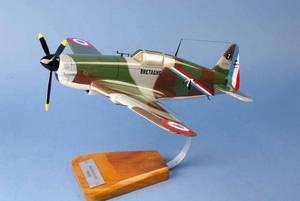 maquette d'avion Morane Saulnier 406 - armée de l'air - 37 cm Pilot's Station Quirao idées cadeaux