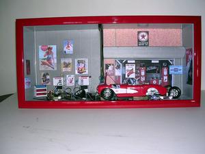 tableau 3d Old US garage  Patrick Richard Quirao idées cadeaux