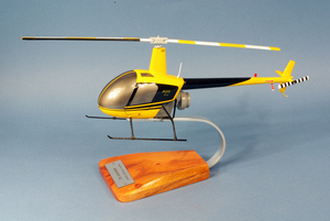 maquette d'helicoptère Robinson R-22 Alpha Civil- 34 cm Pilot's Station Quirao idées cadeaux