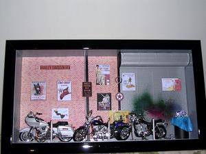 tableau 3d Rue 3 motos Patrick Richard Quirao idées cadeaux