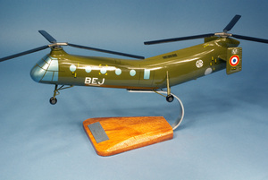 maquette d'helicoptère H-21 Piasecki-Vertol Shawnee / Banane - 31 cm Pilot's Station Quirao idées cadeaux