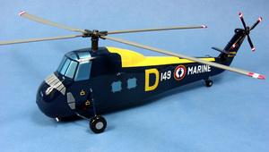 maquette d'helicoptère Sikorsky H.34/HSS1  Aeronavale - 41 cm Pilot's Station Quirao idées cadeaux