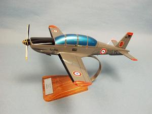 maquette d'avion Socata TB-30 Epsilon-Cognac gris Otan - 35 cm Pilot's Station Quirao idées cadeaux